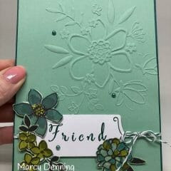 Pretty Friend Card in Mint Macaron