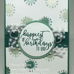Fun Birthday Card Using Shimmer Paint
