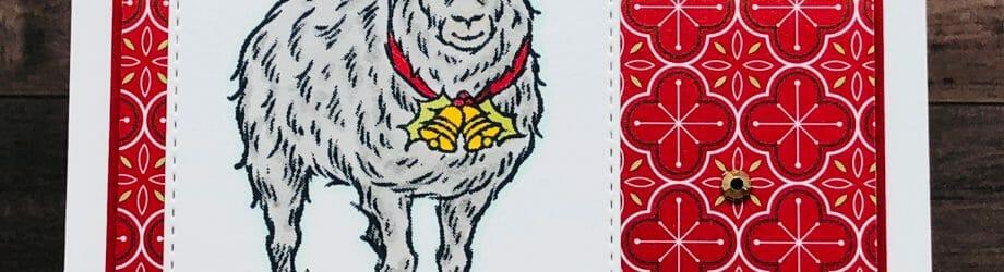 Yuletide Pasture Sheep Card