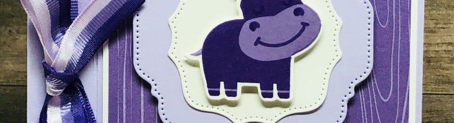 Hip-Hippo-Hooray! – Hippo Happiness Bundle Birthday Card