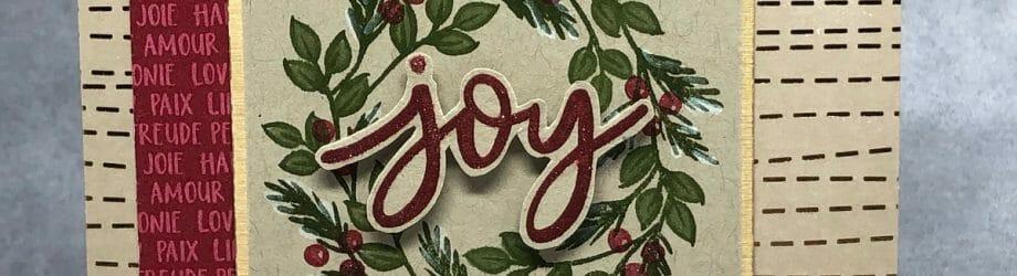 Joy To The World – Paper Pumpkin Kit Alternative Card
