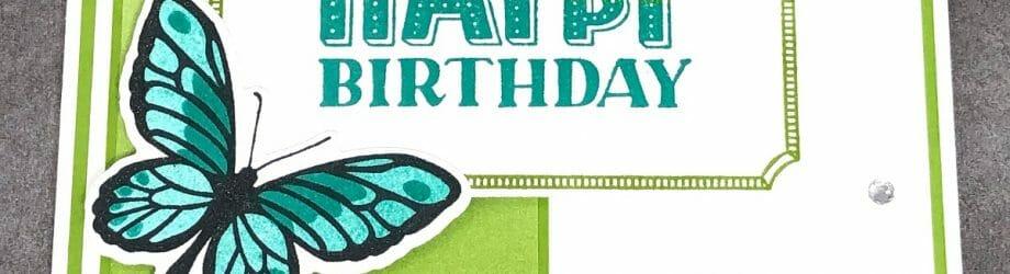 Floating & Fluttering Birthday Card