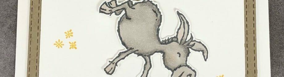 Hee Haw! Darling Donkeys Swing Card